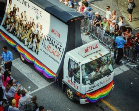 Orange is the New Black Mobile Billboard part of the Pride Parade 2014!
