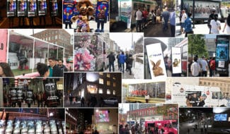 Campaign Pictures of Mobile Billboards, Human Billboards and Projections