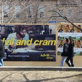 Advil and Cram - Monster poster