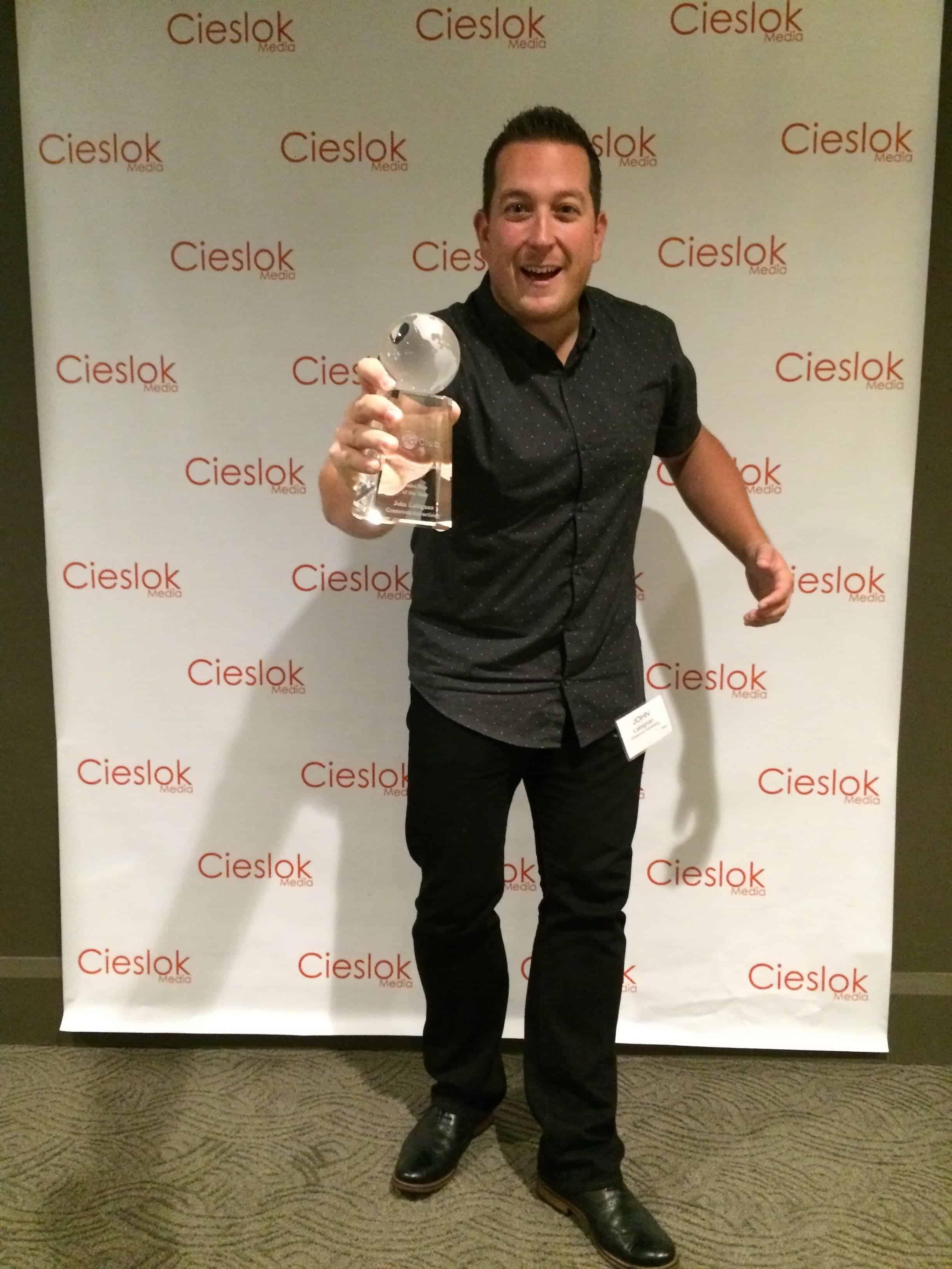 John wins the People's Choice Award!