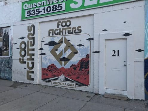 Foo Fighters mural