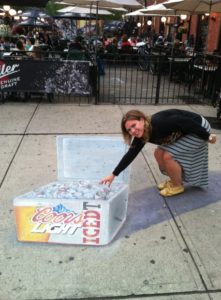 Coors Light Chalk Art