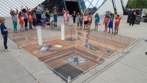 ROM Chalk Art