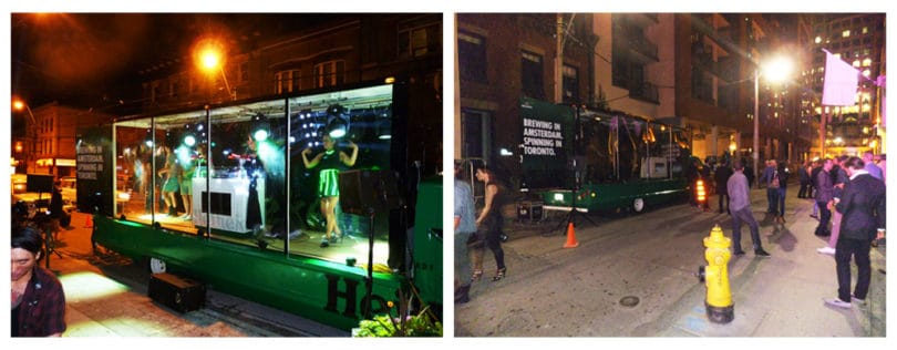 Heineken mobile vehicle advertising