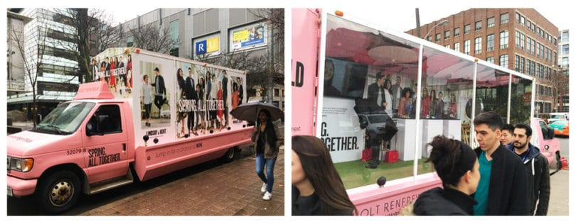 holt renfrew mobile vehicle advertising