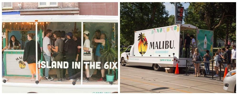 Malibu Rum Display Truck
