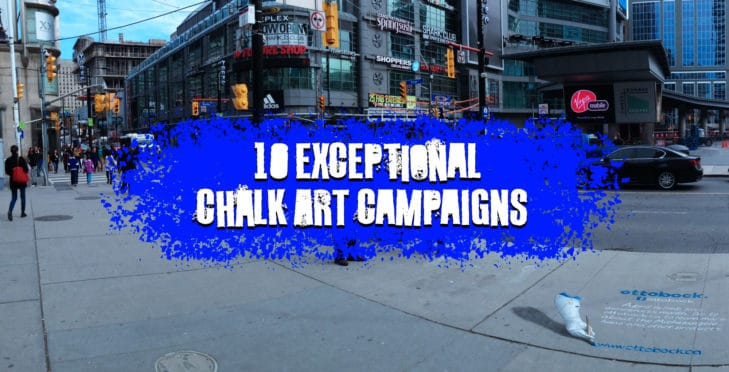 10 exceptional chalk art campaigns