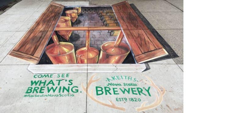 Alexander Keiths Brewery Chalk Art