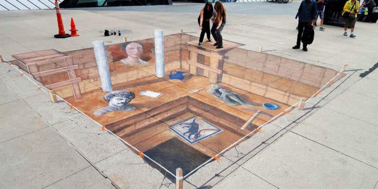 Royal Ontario Museum Chalk Art
