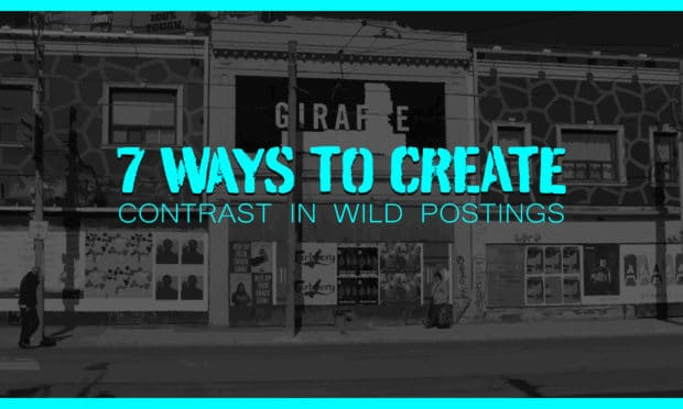 7 ways to create contrast in wild postings