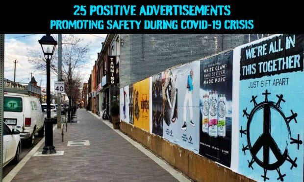 25 advertisements promoting safety during COVID-19 Crisis