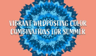 vibrant wildposting color combinations for summer