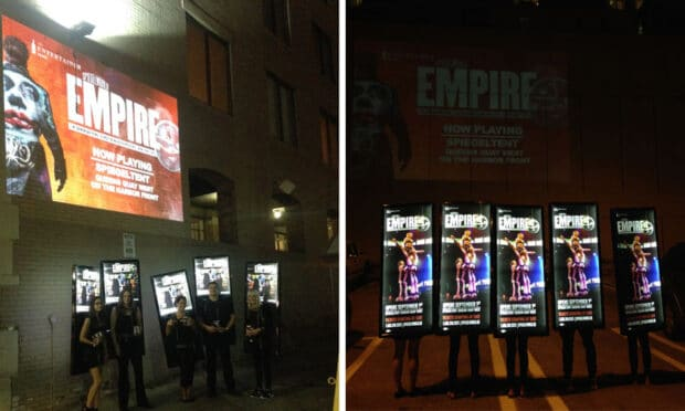empire human billboard