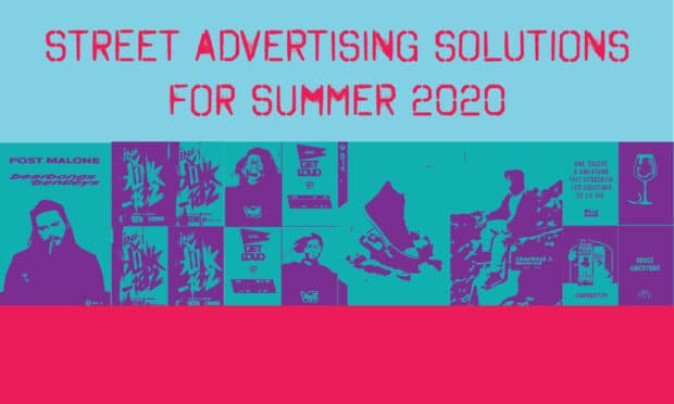 street advertising solutions for summer 2020