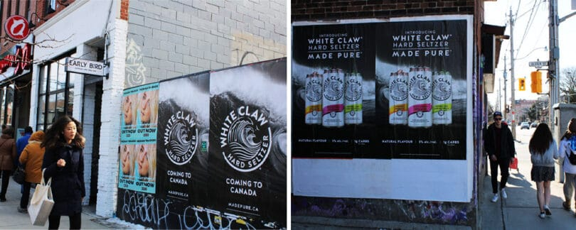 white claw wild postings