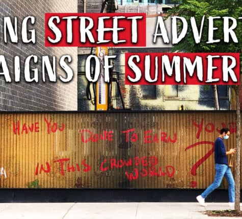 striking street advertising campaigns of summer 2020