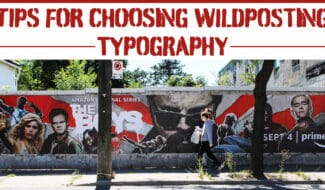 tips for choosing wildposting typography