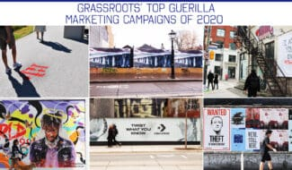 grassroots' top guerilla marketing campaigns of 2020