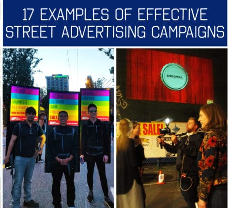 17 examples of effective street advertising campaigns