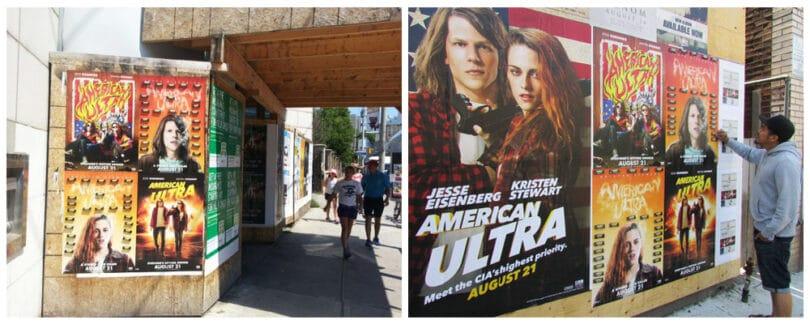 American Ultra Street Marketing Campaign