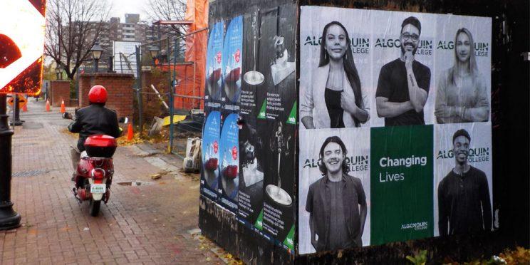 Algonquin College Ottawa Wildposting Campaign