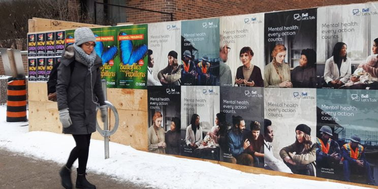 Bell Let's Talk Ottawa Wildposting Campaign