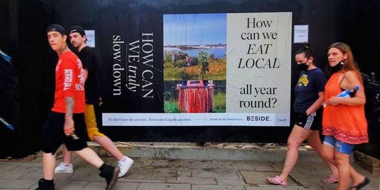 Beside Magazine Ottawa Wildposting Campaign