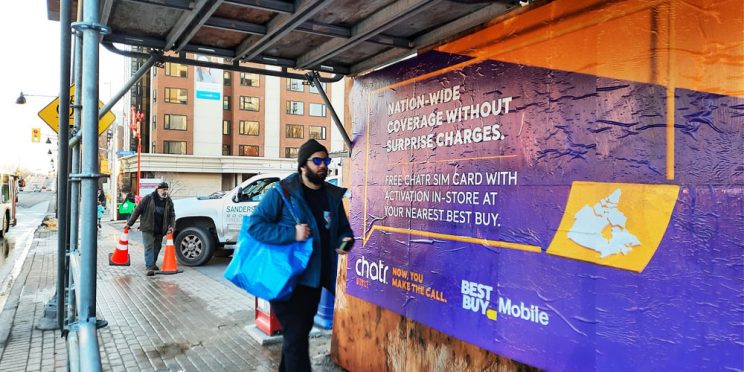 Rogers Chatr Ottawa Wildposting Campaign